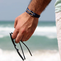 Men's Bracelet - Men's Anchor Bracelet - Men's Blue Bracelet - Mens Jewelry - Bracelets For Men - Jewelry For Men