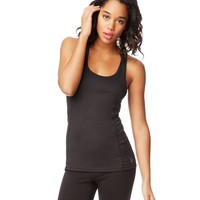 Aeropostale  LLD Stripe Back Mesh Tank - Black, X-Small