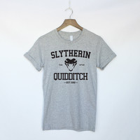 Slytherin Quidditch Shirt - Harry Potter - Hogwarts - Ravenclaw Gryffindor - Hufflepuff - Harry Potter Shirt - Slytherin Shirt