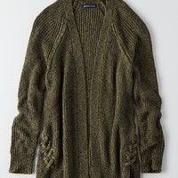 AEO Side-Lace Cardigan, Olive