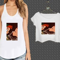 Disney Peter Pan Kissing 6 For Woman Tank Top , Man Tank Top / Crop Shirt, Sexy Shirt,Cropped Shirt,Crop Tshirt Women,Crop Shirt Women S, M, L, XL, 2XL*NP*