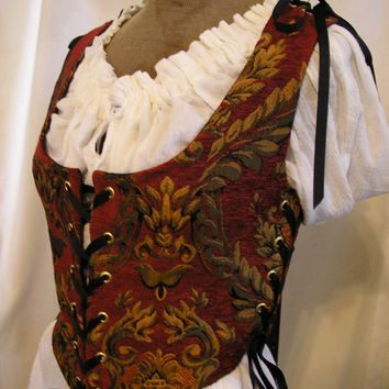 Lady's Renaissance, Celtic, Pirate, Medieval, Steampunk Bodice Size XSmall to XtrLarge