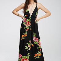 Floral Crossback Cami Maxi Dress