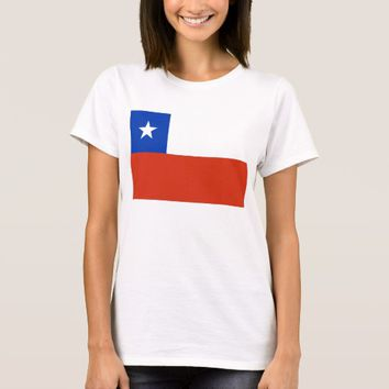 Women T Shirt with Flag of Chile
