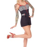 Nautical Navy and Stripes Playsuit