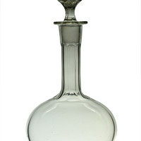 Cut Glass Wine Decanter Antique English 19th Century