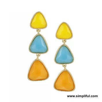 Candy Triangle Resin bead Earring