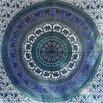 LARGE cotton indian mandala tapestry wall hanging hippie boho bedding bedspread bohemian queen throw ethnic home decor