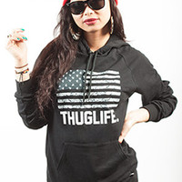 Breezy Excursion Thuglife Hoodie Black Womens : Karmaloop.com - Global Concrete Culture