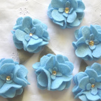 Felt Flowers, Art Supplies, Flower Arrangement Supplies, Wedding Favor Decor, Mixed Media Flowers, Craft Supplies