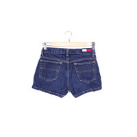 vintage TOMMY HILFIGER denim shorts - 90s - early 00s - jeans - logo -  jean shorts - size 3 - size 29