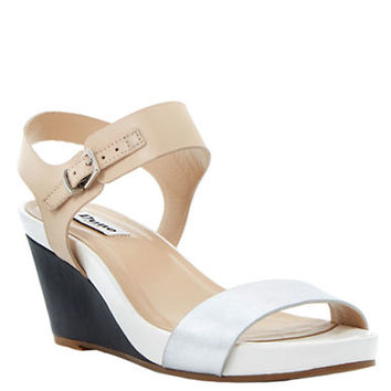 Dune London Getup Leather Wedge Sandals