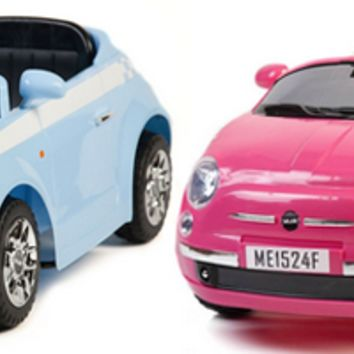 fiat 500 style 6v kids car with parental remote 11995 kids electric cars little
