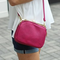 Pink Cross Body Bag-Mina Cross-Body-Magenta-$55.00 | Hand In Pocket Boutique