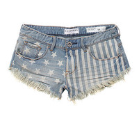 Bullhead Denim Co Discharge Flag Shorts at PacSun.com