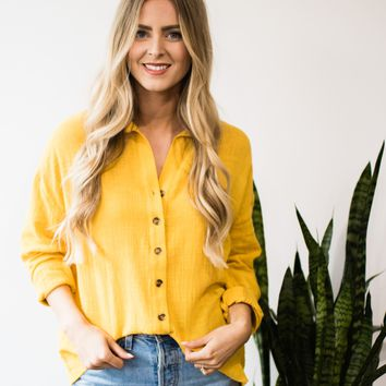 Oasis Linen Button Up Blouse