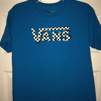 Sale!! Vintage VANS Off The Wall Youth T-shirt boys street wear tee