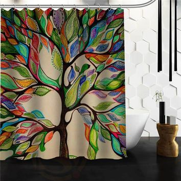 Custom The tree of life Custom Shower Curtain MORE SIZE Waterproof Fabric Shower Curtain for Bathroom Free Shipping