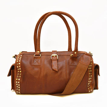 Scout Duffel Bag in Rich Brown