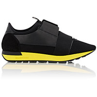 Balenciaga Yellow Sole Race Runner Sneaker Shoes Black
