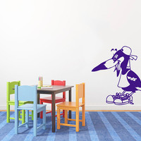 Magpie Bird Wearing A Hat Shirt And Shoes Vinyl Decal Sticker Art Design Kids Children Nursery  Room Nice Picture Home Decor Hall Wall ki221