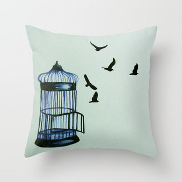 Letting Go Throw Pillow by Talula Christian
