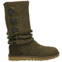 UGG Women's Classic Cardy 5819 Moss Outlet UK