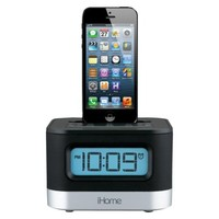 iHome Docking Clock Radio with USB Charging - Black (iPL10)
