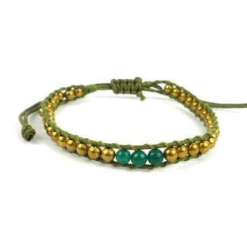 4th Chakra Bracelet - Green - Global Groove (J)