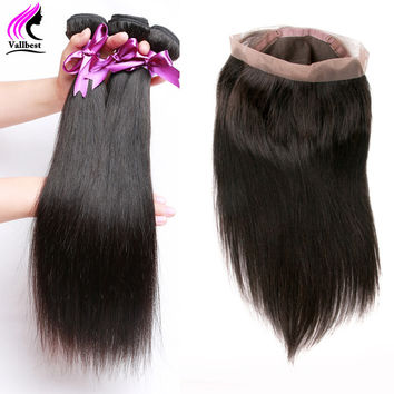 OPAL FERRIE - Peruvian Straight Virgin Hair With 360 Lace Closure & 3 Bundles