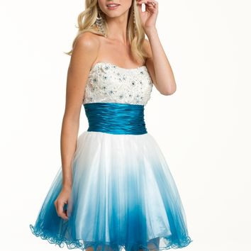 Short Ombre Strapless Dress from Camille La Vie and Group USA