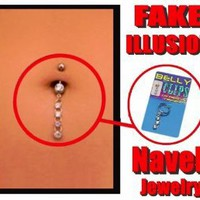 Illusion Fake Navel Jewelry
