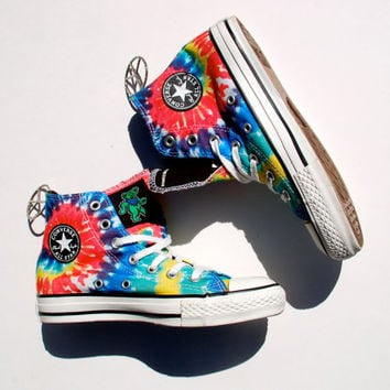 Rare Grateful Dead Converse - 2008 Dancing Bears High Tops - Tie Dye