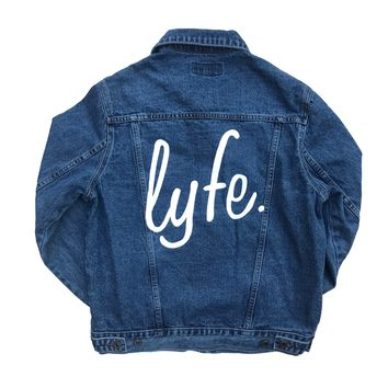 LYFE Script Denim Jacket - Women