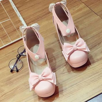 High-Q Japan Anime Women Female Lady Lolita Girls Student Shoes Preppy School Casual Daily Casual Student Uniform Shoes