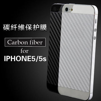 Carbon fiber film for iphone5 SE protective cover sticker for iphone 5s back film color foil