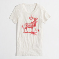 Factory Swiss elk graphic tee