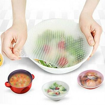 30cmX30cm Silicone Food Wrap Reusable Seal Cover Stretch Fresh Keeping Kitchen Tools Dropshipping Oct25