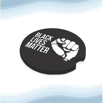 Black lives matter Car Cup Holder Coasters Rubber Black-Backed (Set of 2)
