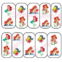 Little Mermaid 30 images Nail Art Decals Nail Decal Transfer Image