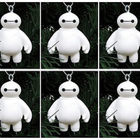 Big Hero 6 ~ Six Piece Baymax Healthcare Companion Robot Christmas Tree Ornaments Featuring 6 Baymax Ornaments