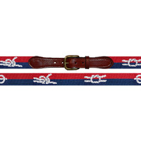 Nautical Knots Needlepoint Belt by Smathers & Branson
