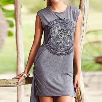 Good Vibes Shirt Dress