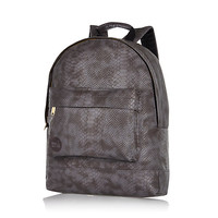 Grey MiPac Gold faux python backpack - branded bags / wallets - bags / wallets - men