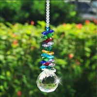 Glass Crystal Suncatcher Ball Chandelier Part Prism Hanging Pendants Home Decorations 1pcs
