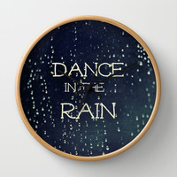 Dance in the Rain Wall Clock by Caleb Troy