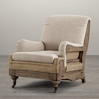 Deconstructed English Roll Arm Chair