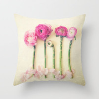 Hello Little Flowers Throw Pillow by Olivia Joy StClaire | Society6