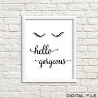 teen girl room decorations teen room decor makeup art prints vanity decor eyelashes print lash girly prints printable art poster frame