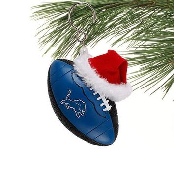 Detroit Lions Team Football Ornament